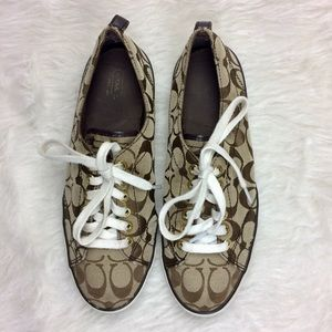 Coach Suzzy Tennis Shoes Size 9 B Lace Up